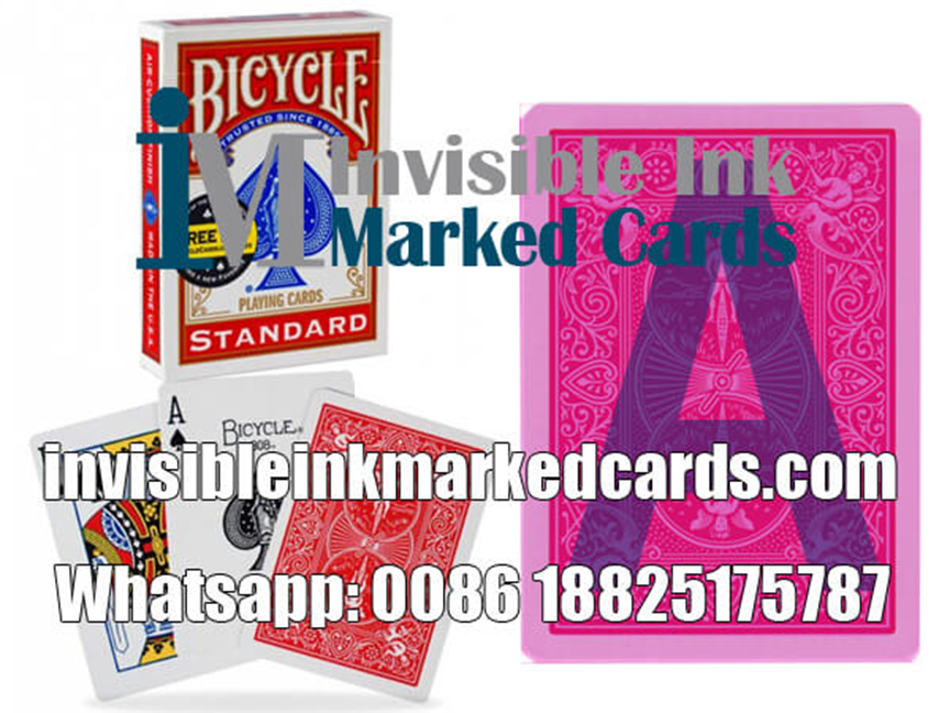 Luminous ink marked cards